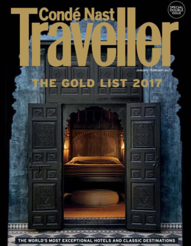 Beachcover featured in Conde Nast Traveller's January 2017 Edition