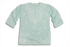 Beachcover 100% cotton aqua beach cover up kaftan for children / kids