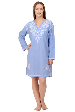 Aurelia Kaftan/Beach Dress in Cornflower