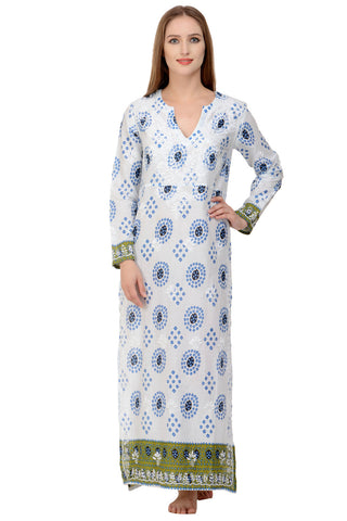 Alexandra Kaftan / Maxi Dress - Blue