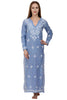 Alexandra Kaftan / Maxi Dress Blue Daisy
