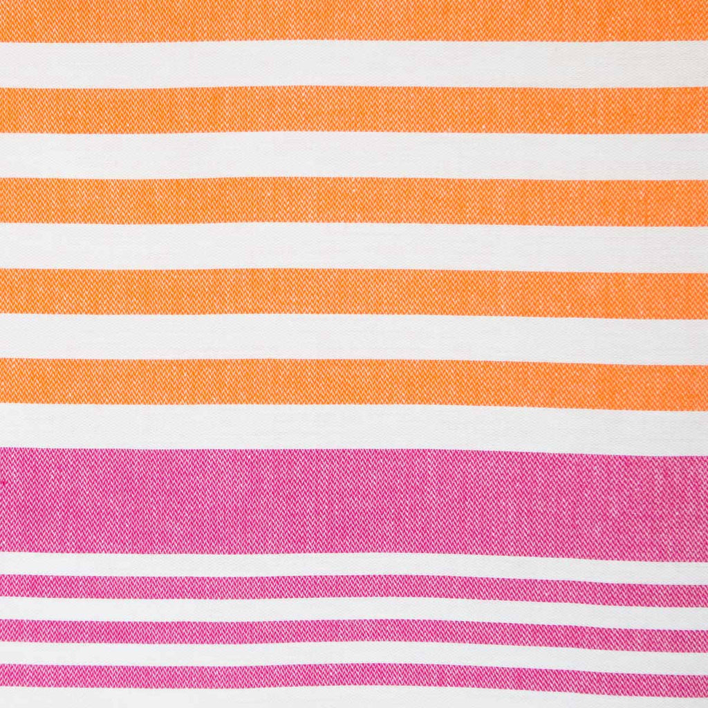 Bodrum Towel - Orange & Cerise
