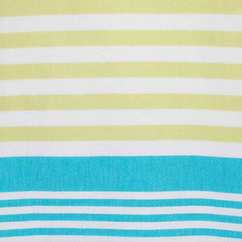 Bodrum Towel - Lime & Turquoise