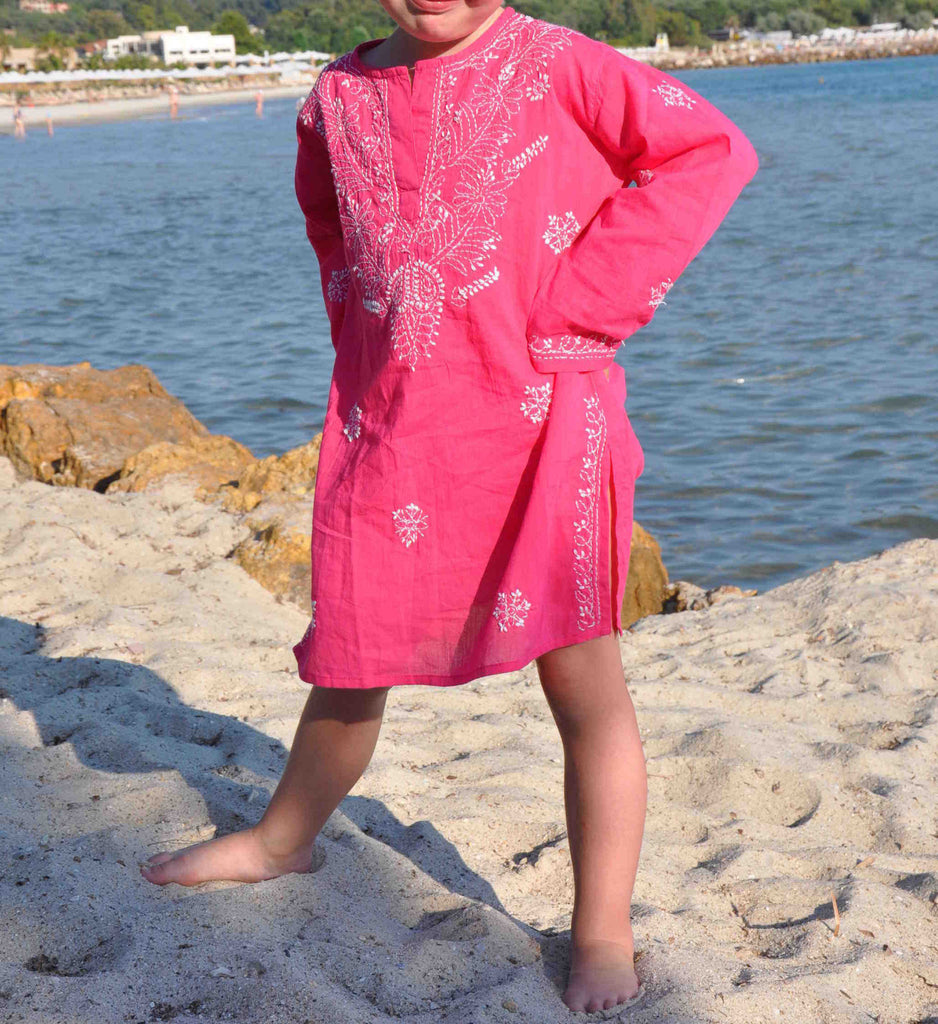 Mini Raspberry Pink Beach Cover Up