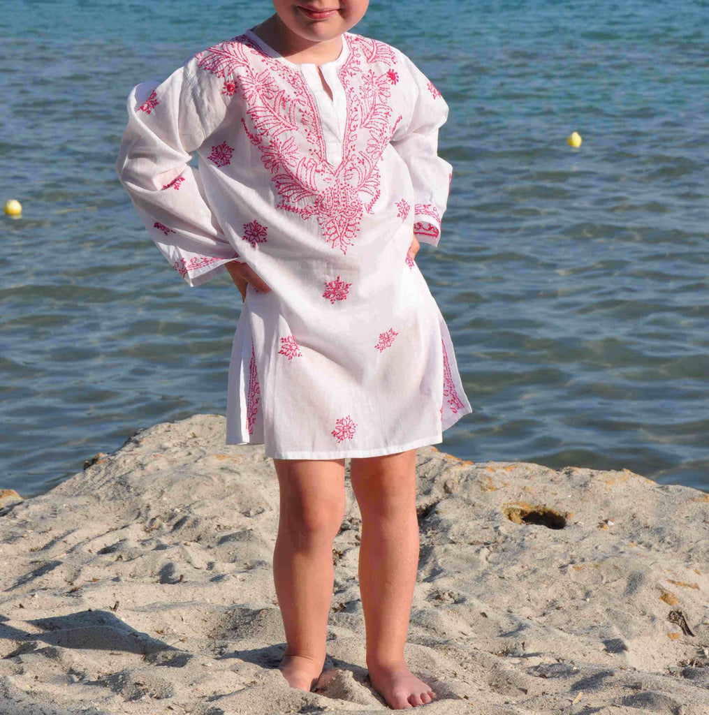 Raspberry Pink Mini Beach Cover up