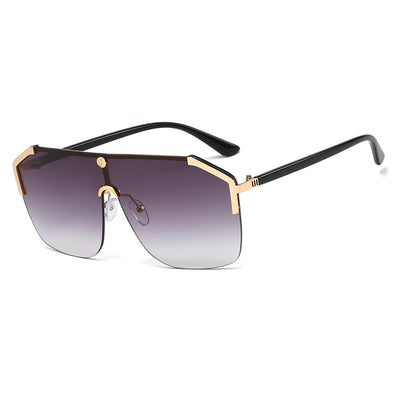 Personality Integrated Large Frame Sunglasses