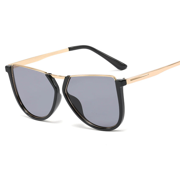 Women's Fashion Irregular Half Frame Sunglasses