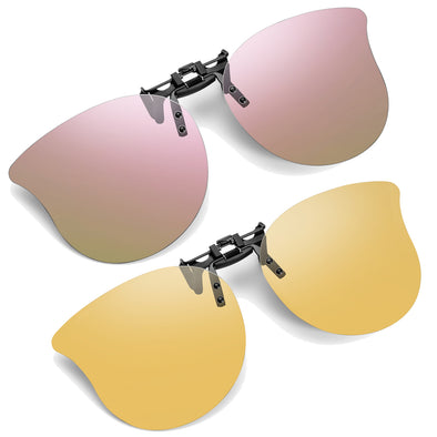 Soxick Cat Eye Clip-On Sunglasses