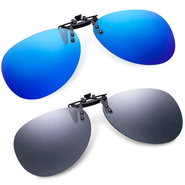 Soxick Clip On Aviator Glasses-2 Packs
