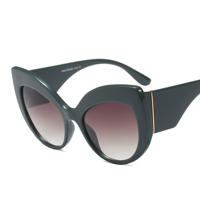 Neutral Fashion Large Frame Square Sunglasses - A