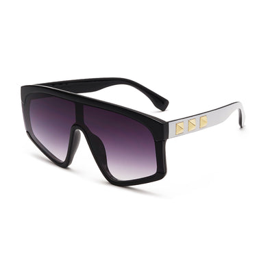 Fashion Integrated Large Frame Sunglasses
