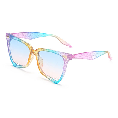 Fashion Colour Integrated Large Frame Sunglasses