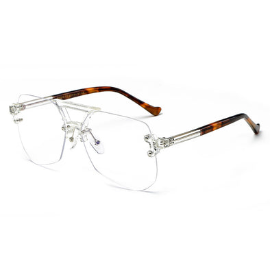 Neutral Trendy Frameless Blue Light Glasses - FW