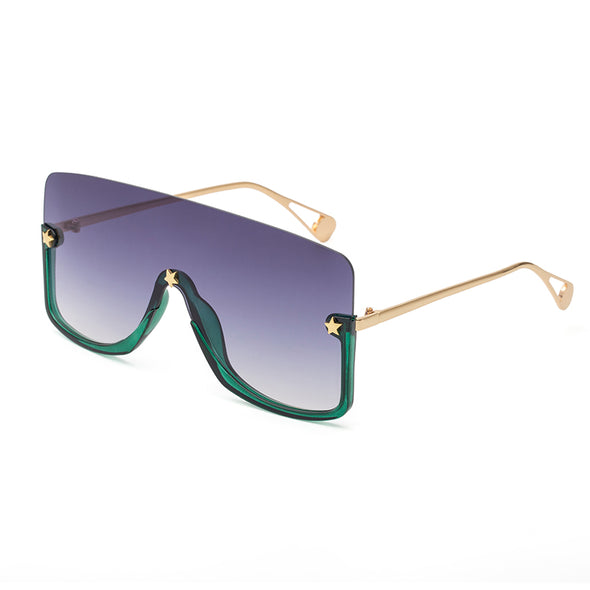 Integrated Five Star Large Frame Sunglasses