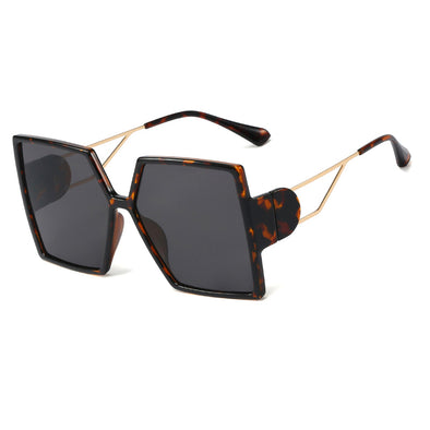 Neutral Fashion Large Frame Square Sunglasses
