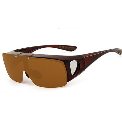 POLARIZED SPORTS FLIP-ON SUNGLASSES-A