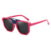 Neutral Fashion Mixed Color Retro Sunglass- GL
