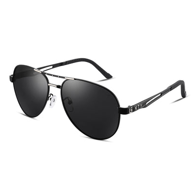 KTY Multifunctional Grey-Black Lens Polarized Sunglasses - BS