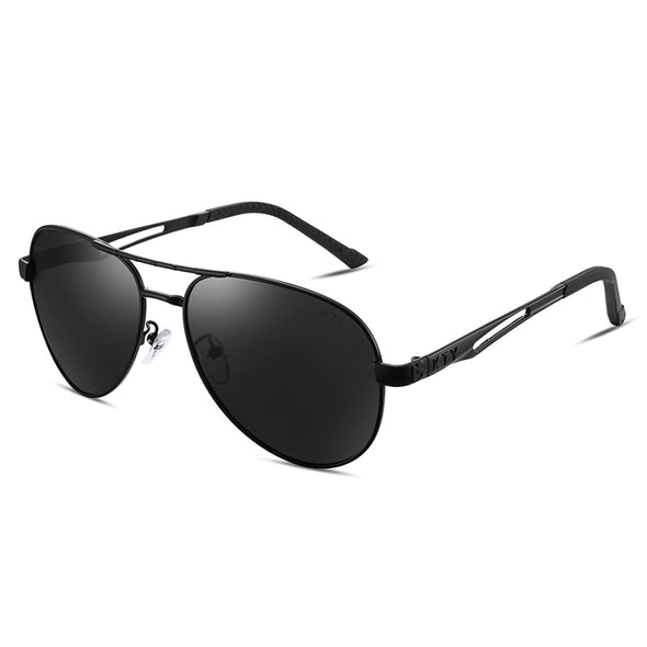 KTY Multifunctional Grey-Black Lens Polarized Sunglasses - FB
