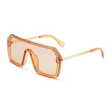 Fashion Square Integrated Large Frame Sunglasses