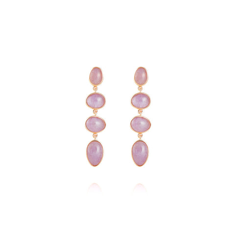 Amethyst earrings and rose gold