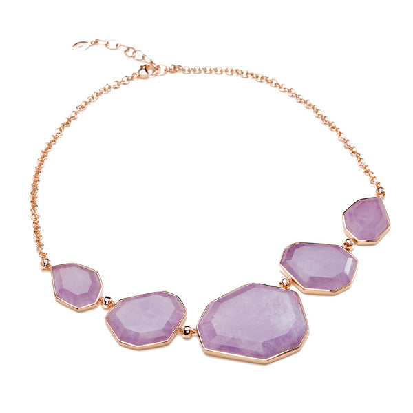 Amethyst Necklace and rose gold
