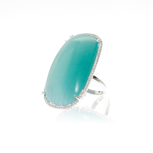 JWLZ Blue Catseye Ring