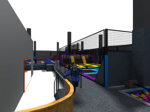 Indoor Trampolin Park + Ninja Warrior Parkour + Wellenrutsche-Indoor Trampolin Park-Shan-Kilimando