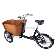 Laden Sie das Bild in den Galerie-Viewer, Woodstyle Cargo E-Bike 250W / 36V DAPU Motor 10Ah-Cargo Bike-Marcia Hand in Hand-Kilimando