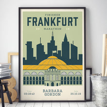 Load image into Gallery viewer, Personalised Frankfurt Marathon Race print in frame