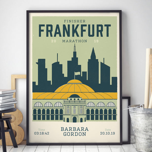 Personalised Frankfurt Marathon Race print in frame