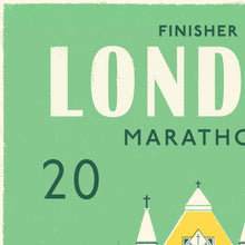 Load image into Gallery viewer, London Marathon Personalised print close up 2