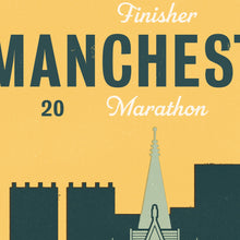 Load image into Gallery viewer, Manchester Marathon personalised print close up 2
