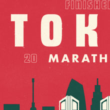 Load image into Gallery viewer, Tokyo Marathon personalised print close up