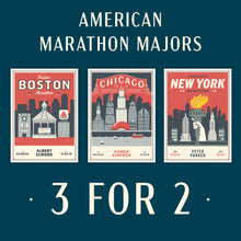 Load image into Gallery viewer, American Marathon Majors Personalised Prints 3 for 2
