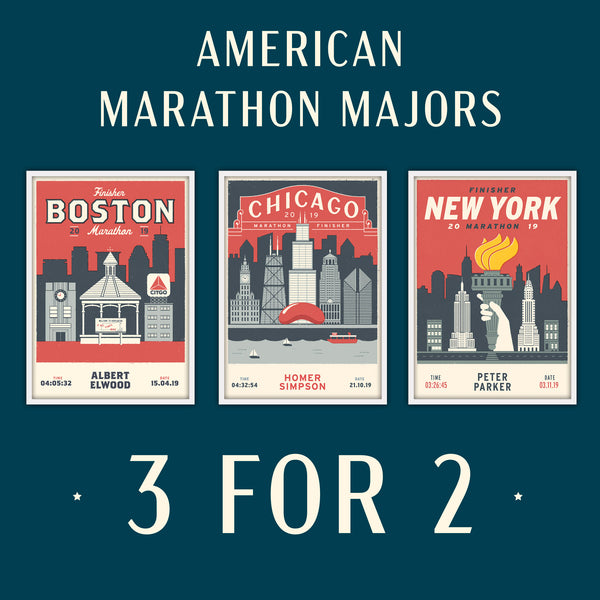 American Marathon Majors Personalised Prints 3 for 2