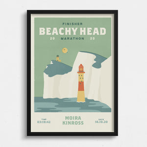 Beachy Head Marathon Personalised Print