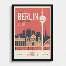 Load image into Gallery viewer, Berlin Marathon personalised print