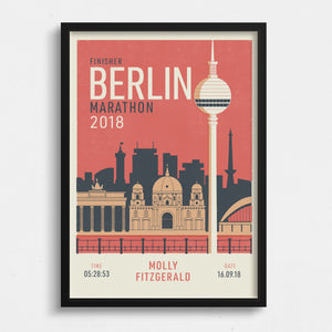 Berlin Marathon personalised print