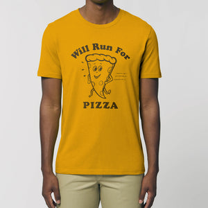 Will Run for Pizza Unisex Tee Shirt