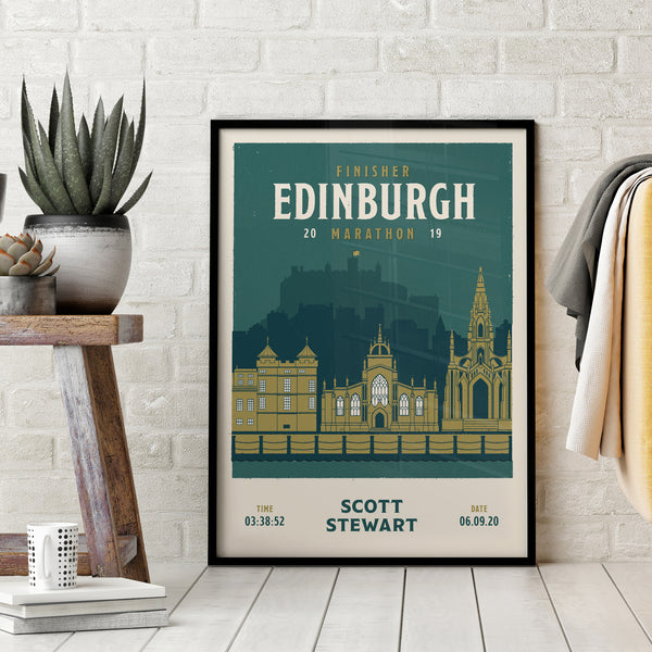 Edinburgh Marathon Personalised Print