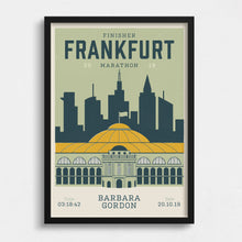 Load image into Gallery viewer, Personalised Frankfurt Marathon Race print