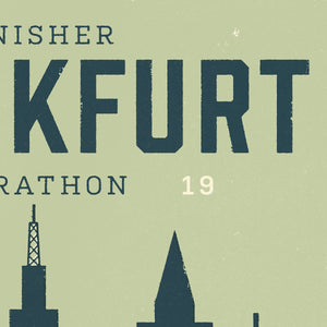 Personalised Frankfurt Marathon Race print  close up 2