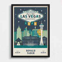 Load image into Gallery viewer, Las Vegas Marathon Personalised Print
