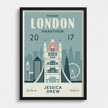 Load image into Gallery viewer, London Marathon Personalised Print