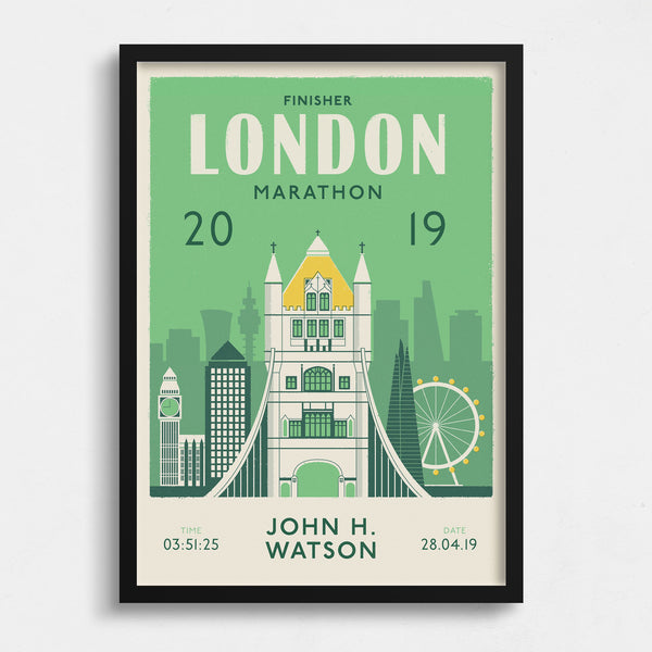 London Marathon Personalised print