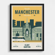 Load image into Gallery viewer, Manchester Marathon personalised print