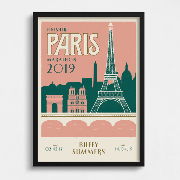 Paris Marathon personalised print