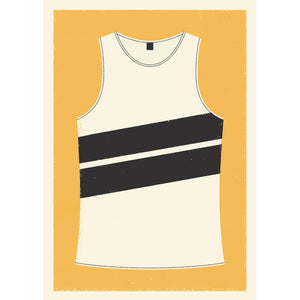 Personalised Running Vest Print diagonal stripes (more colours available)