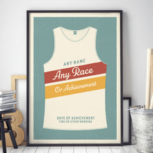 Load image into Gallery viewer, Personalised Running Vest Print diagonal stripes (more colours available)